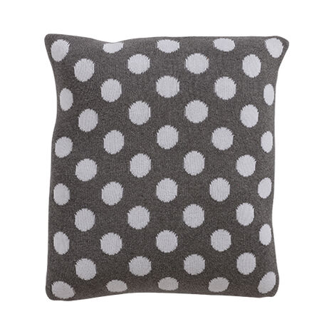 Dotty Knit Pillow, Mouse Grey ,  , large