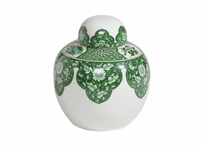 Green Round Lidded Jar ,  , large_gray
