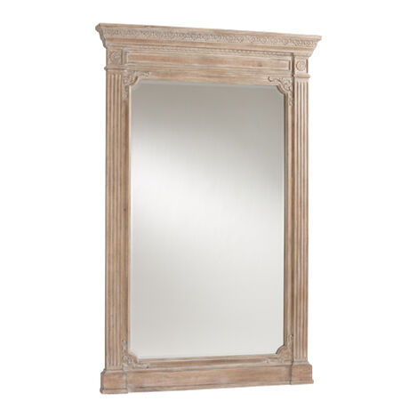 Aged Oak Madeleine Trumeau Floor Mirror ,  , large