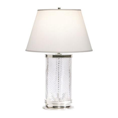 Herringbone Glass Table Lamp ,  , large