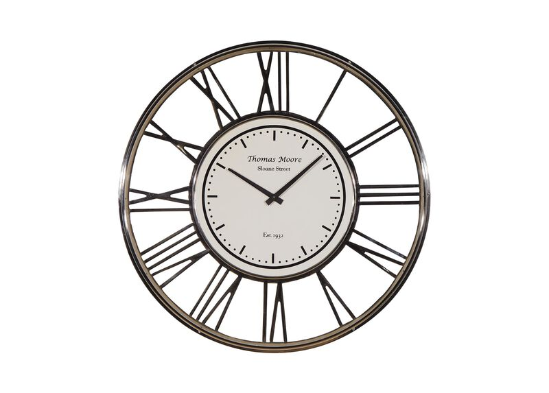 Large Nickel Wall Clock ,  , large_gray