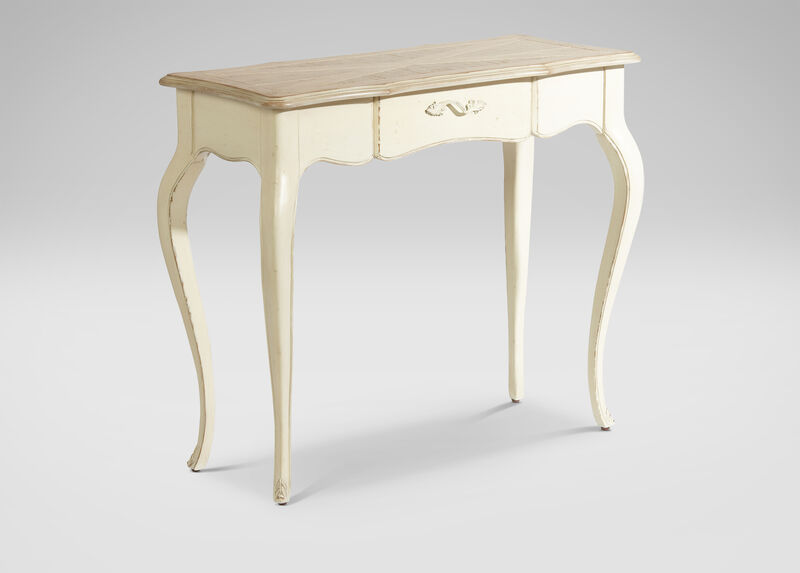 French White Console Table ,  , large_gray