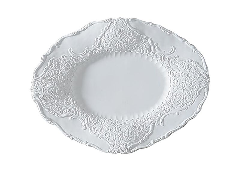 Large White Baroque Wall Plate ,  , large_gray