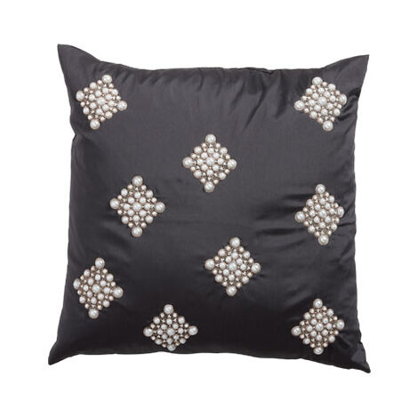 Pearl Diamond Black Pillow ,  , large