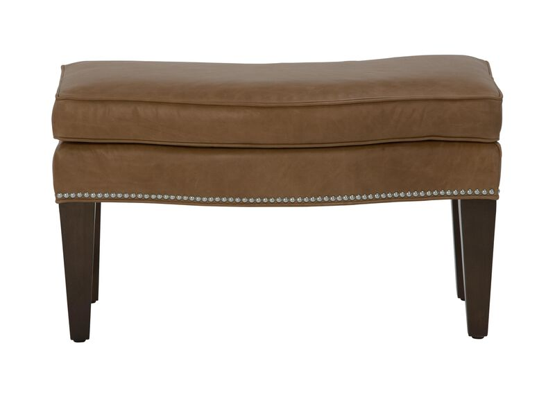 Rand Leather Ottoman ,  , large_gray