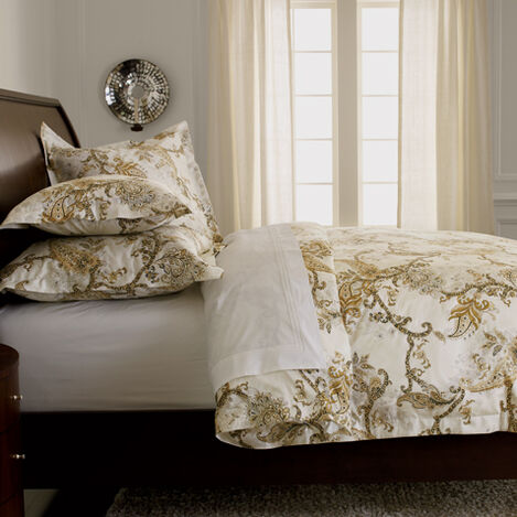 Claxton Paisley Full/Queen Duvet Cover ,  , large