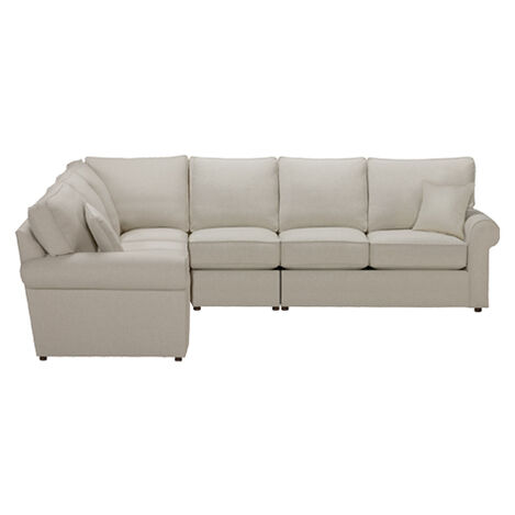 Retreat Roll-Arm Four Piece Sectional, Quick Ship ,  , large