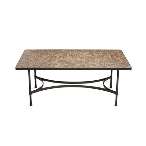 Biscayne Rectangular Dining Table with Dark Porcelain Top ,  , large
