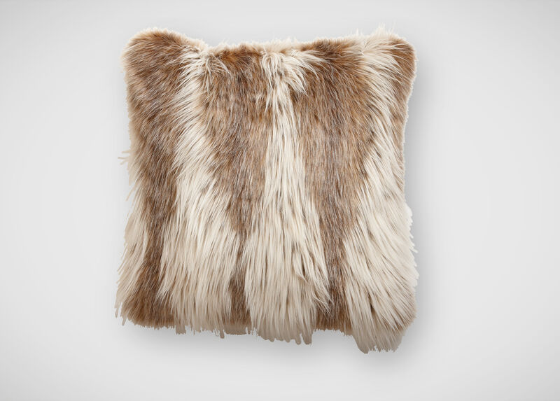 Lynx Faux Fur Pillow ,  , large_gray