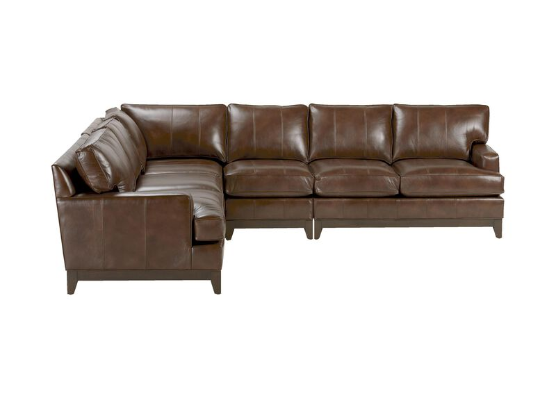 Arcata Four Piece Leather Sectional, Quick Ship ,  , large_gray