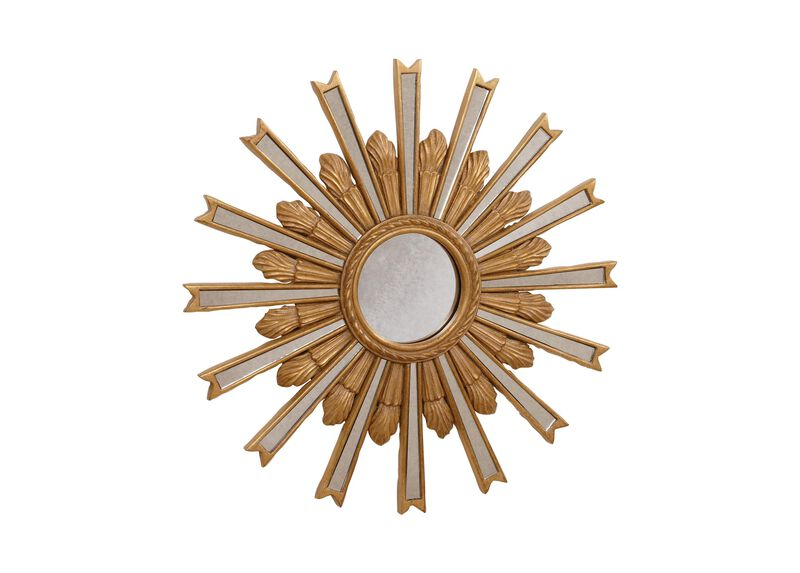 "20"" Gold Starburst Mirror"