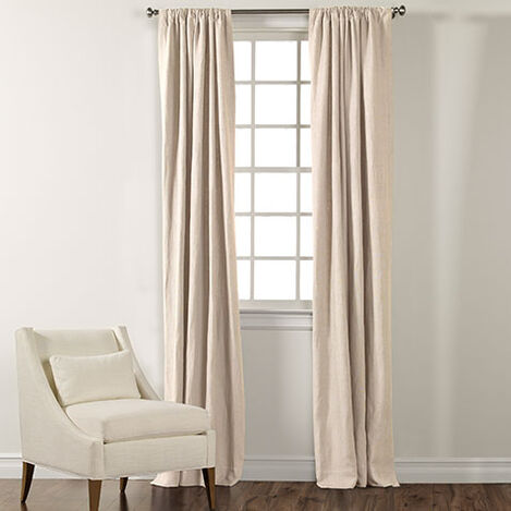 Ivory Sayre Washed Linen Rod-Pocket Panel ,  , large