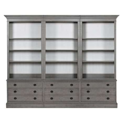 Villa Triple File Bookcase ,  , large