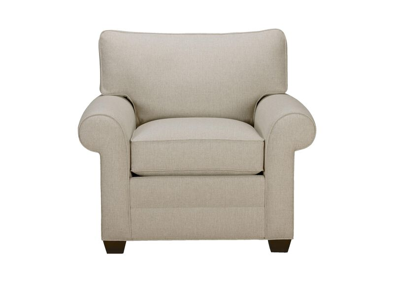 Bennett Roll-Arm Chair, Quick Ship , Hailey Oatmeal (Q1033), solid texture , large_gray