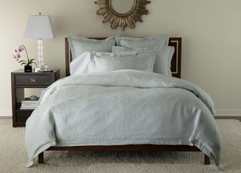 Mineral Linen Paisley Duvet Cover And Shams Ethan Allen