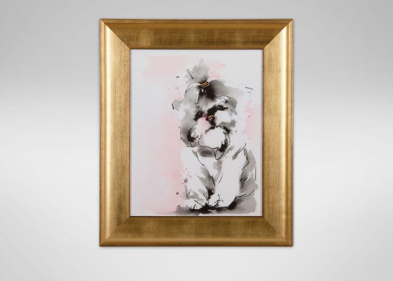 Glamour Dog Sketch IV, Gold ,  , large_gray