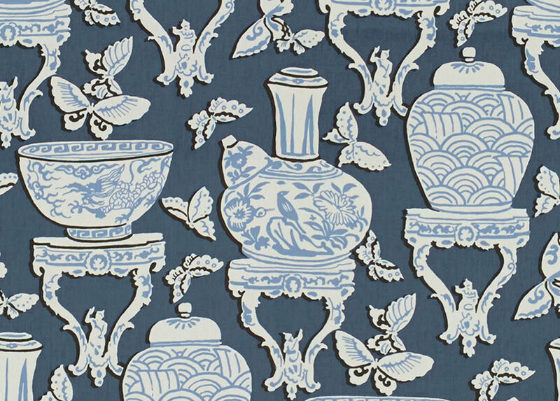 Ginger Jar Indigo Fabric by the Yard ,  , large_gray