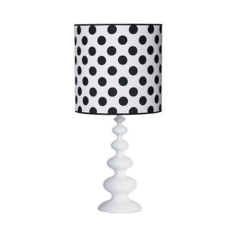 Modern Spindle Table Lamp, Snow ,  , large