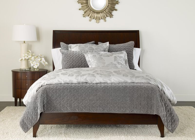 Susana Gray Floral Duvet and Gresham Graphite Coverlet ,  , large_gray