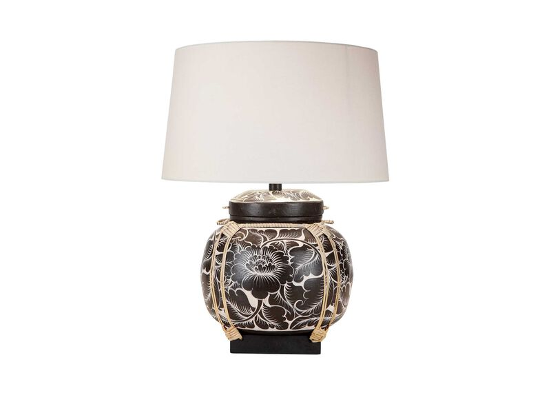Fiona Bamboo Table Lamp ,  , large_gray