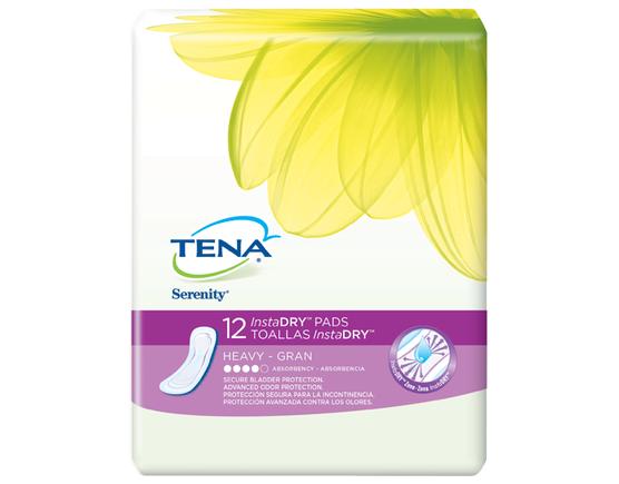 TENA Serenity InstaDRY Heavy 1 Pack - 12 Count