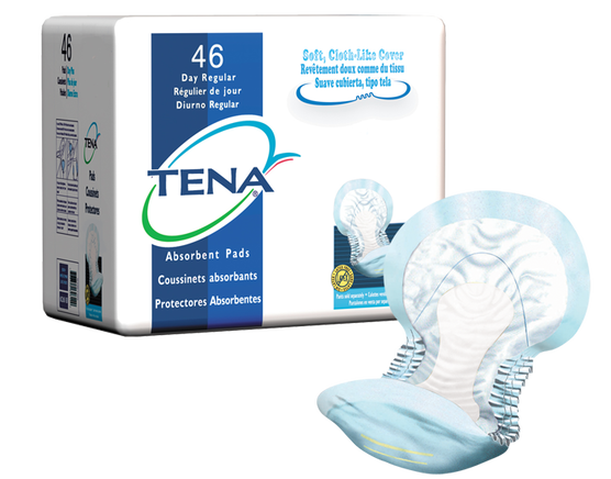 TENA Day Regular Pads - 1 Pack 46 Count