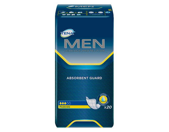 TENA MEN Protective Guards - 1 Pack 48 Count