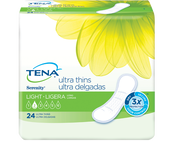 TENA Serenity Light Ultra Thin Pads Long 1 Pack - 24 Count
