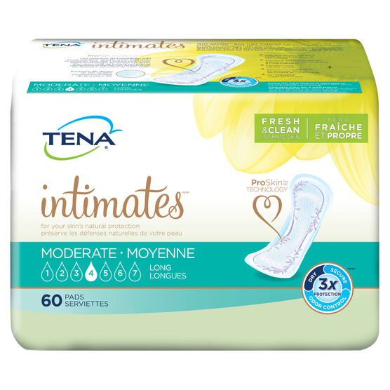 moderate absorbency, tena pads, medium incontinence pad