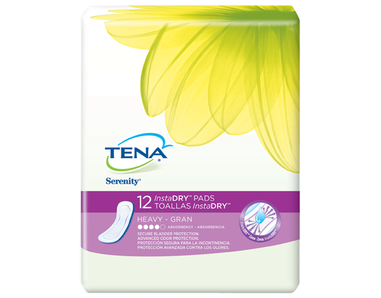 TENA InstaDRY Heavy 1 Pack - 12 Count