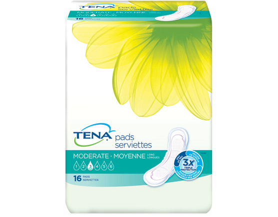 TENA  Serviettes - Absorption moyenne - Longues