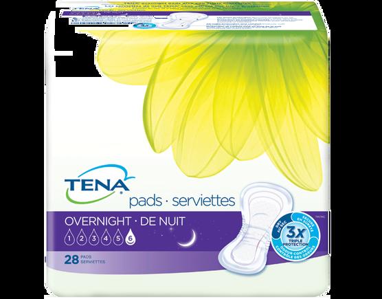 TENA  - Serviettes - Absorption ultime de nuit