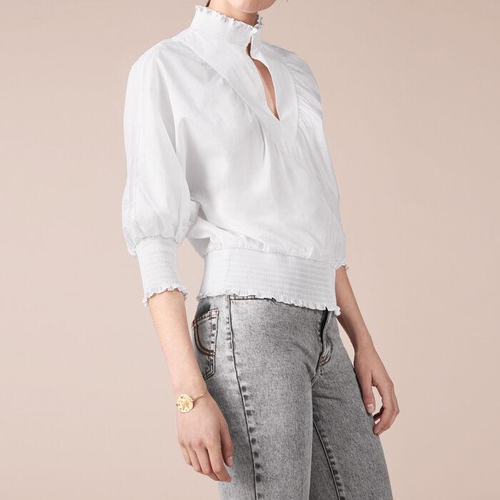 Bluse aus Baumwollpopeline - Tops und Hemden - MAJE