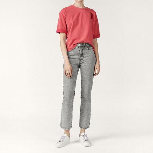 Verwaschene Jeans mit geradem Schnitt - Hosen und Jeans - MAJE