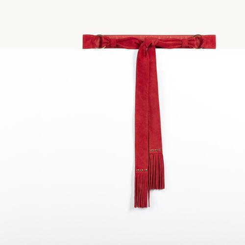 Gürtel zum Knoten aus Ziegenveloursleder - Private sales - MAJE
