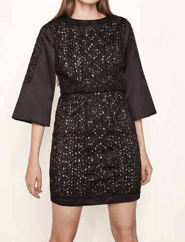 Kurzes Kleid aus Satin - Kleider - MAJE