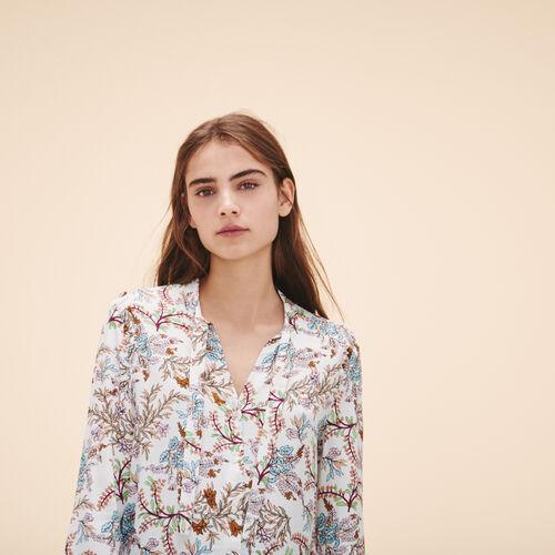 Bluse mit Blumenmotiv - Tops - MAJE