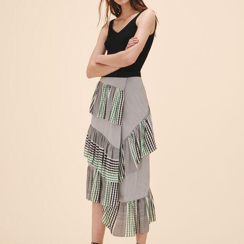 Midirock mit Rüschen - Röcke & Shorts - MAJE