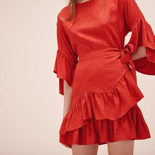 Kurzes Kleid mit Volants - Kleider - MAJE