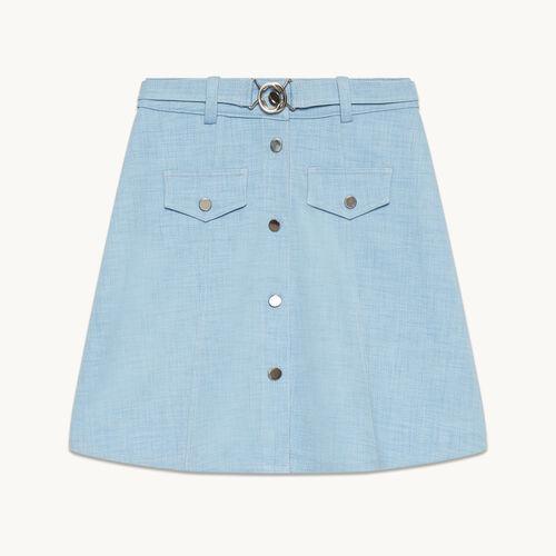 Jupe trapèze avec ceinture - Jupes & Shorts - MAJE