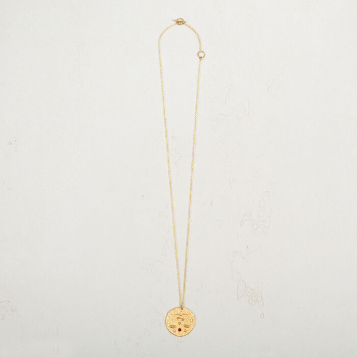 Libra zodiac sign necklace -  - MAJE