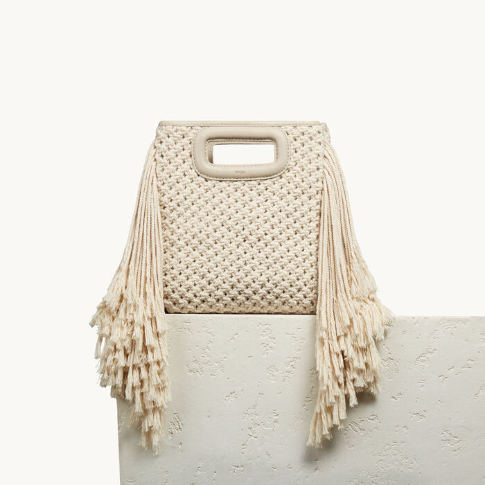 M bag in knitted cotton -  - MAJE