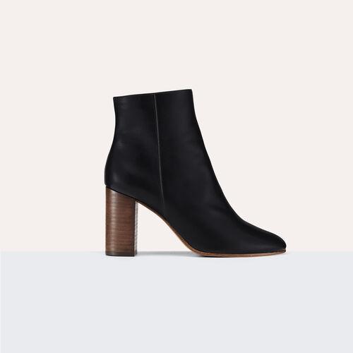 Stiefeletten aus Leder - Schuhe - MAJE