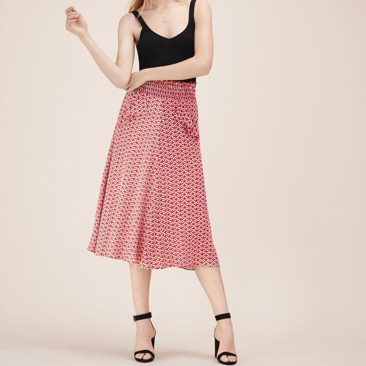 Jupe midi imprimée - Jupes & Shorts - MAJE