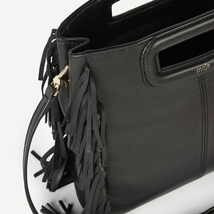 Small fringed leather bag - All bags - MAJE