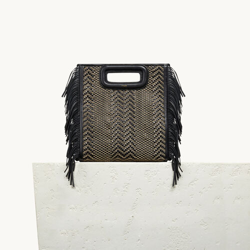 Leather M bag with braiding - All bags - MAJE
