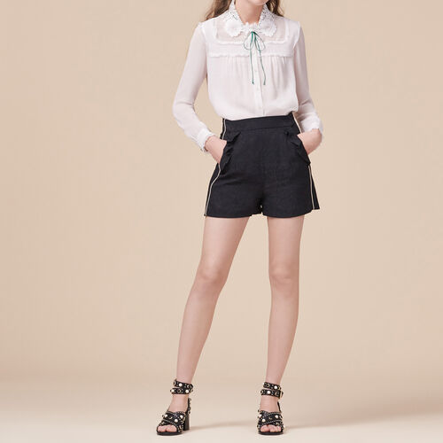 Shorts with brocade print - Skirts & Shorts - MAJE