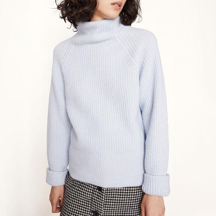 Pull à col roulé en tricot - Maille - MAJE
