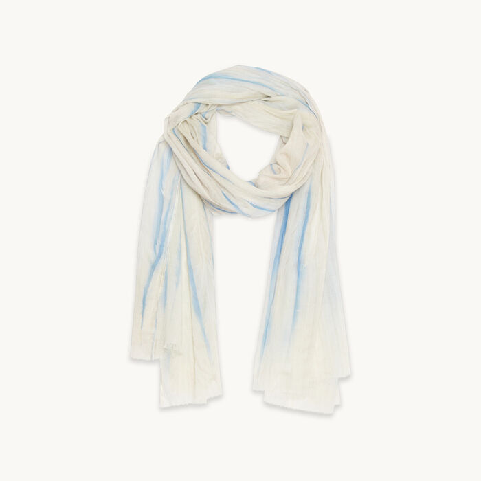 Printed cotton stole - Scarves - MAJE