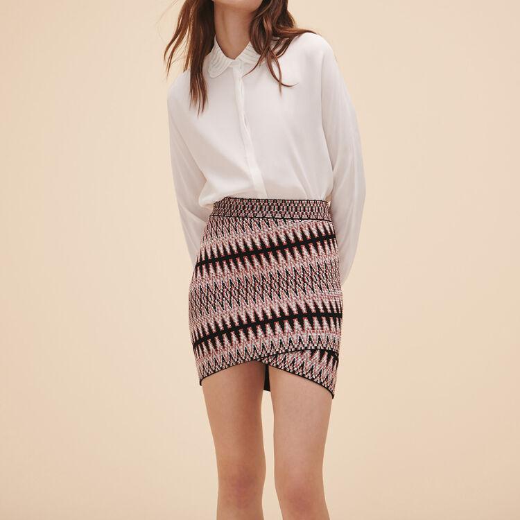 Jupe courte en jacquard - Jupes & Shorts - MAJE